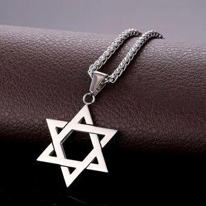 New Unisex Stainless Steel Magen Star Necklace
